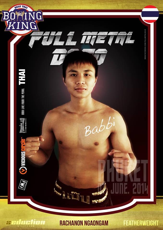Rachanon Ngaongam Babbi FMD MMA Fighter