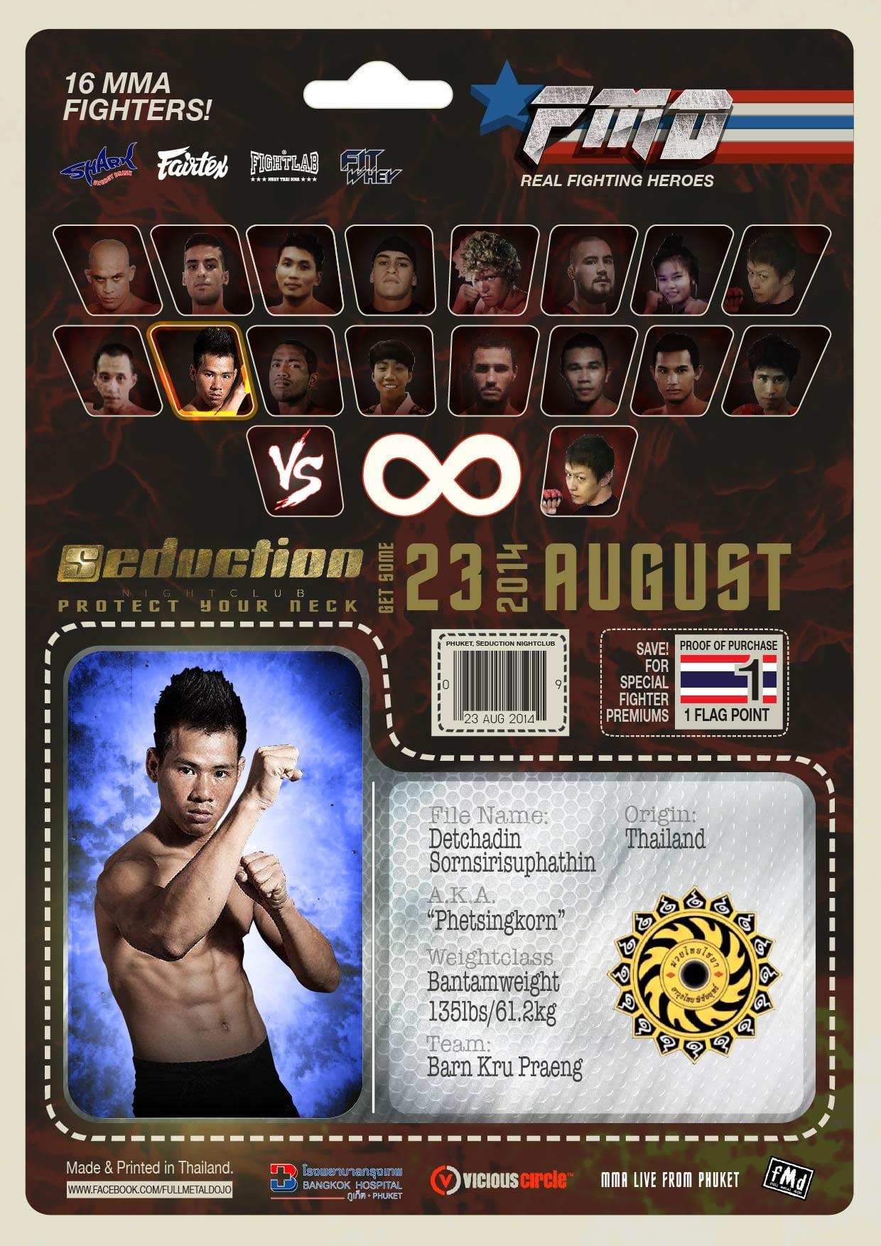 Detchadin 'Phetsingkorn' Sornsirisuphathin FMD2 MMA Fighters