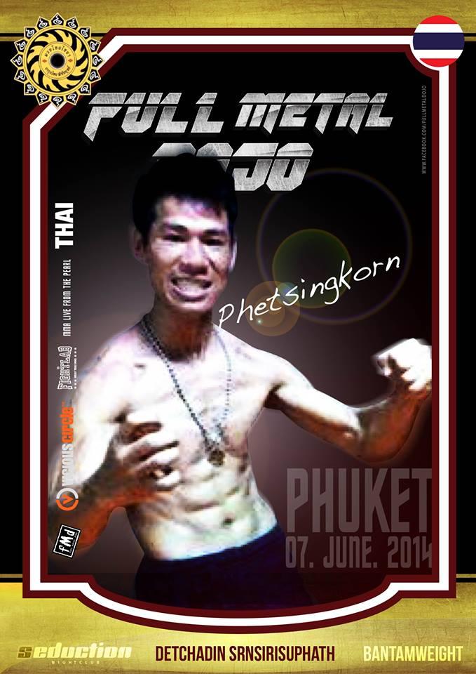 Detchadin Phetsingkorn Sornsirisuphathin FMD MMA Fighter