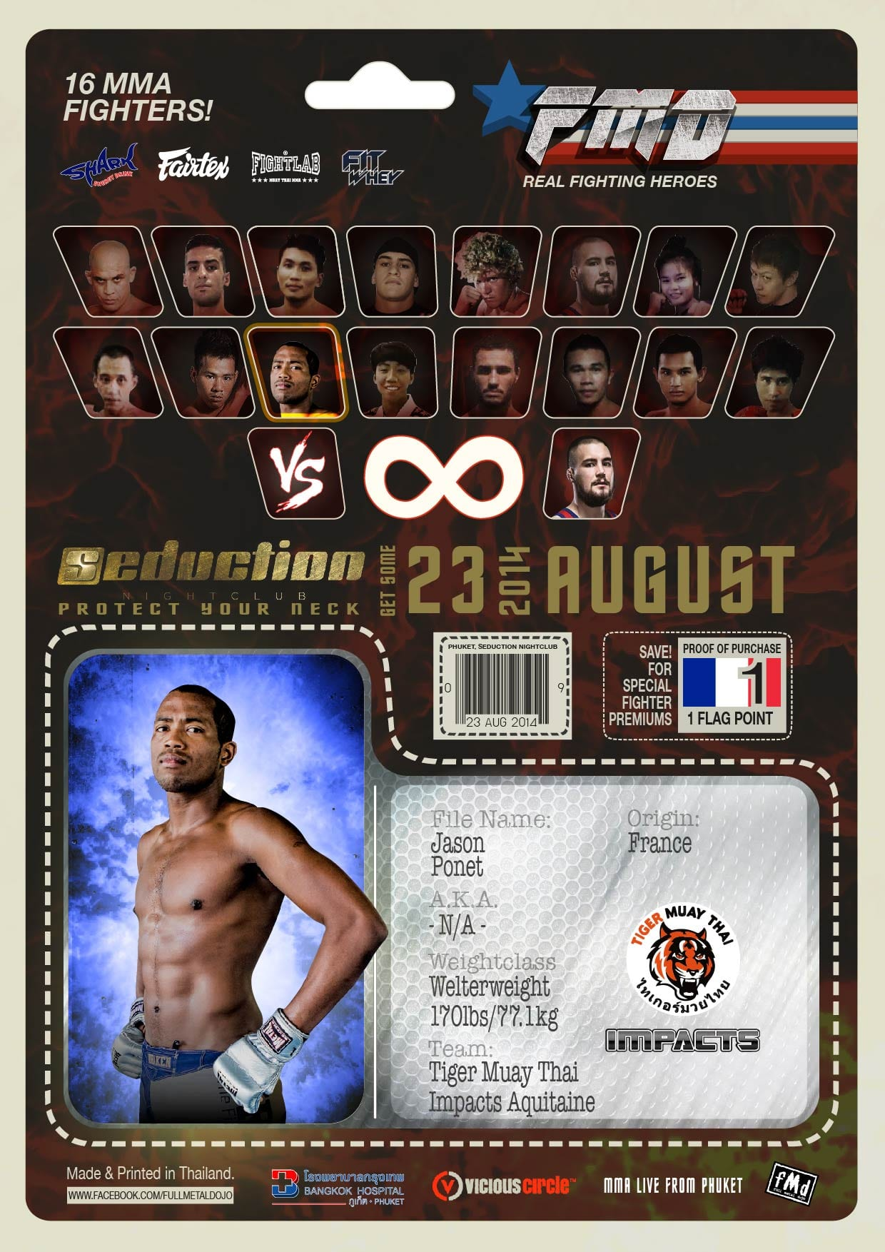Jason Ponet FMD2 MMA Fighter Profile