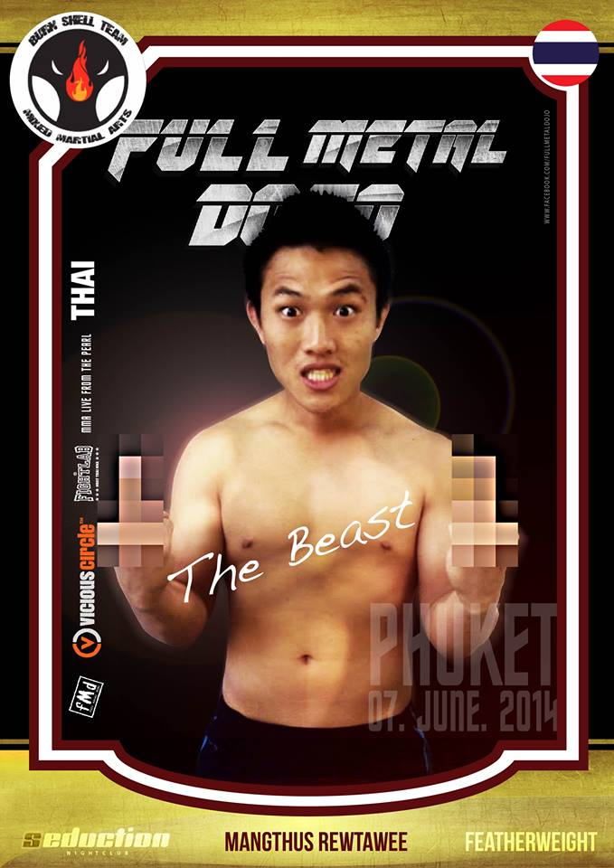 Mangthus The Beast Rewtawee FMD MMA Fighter