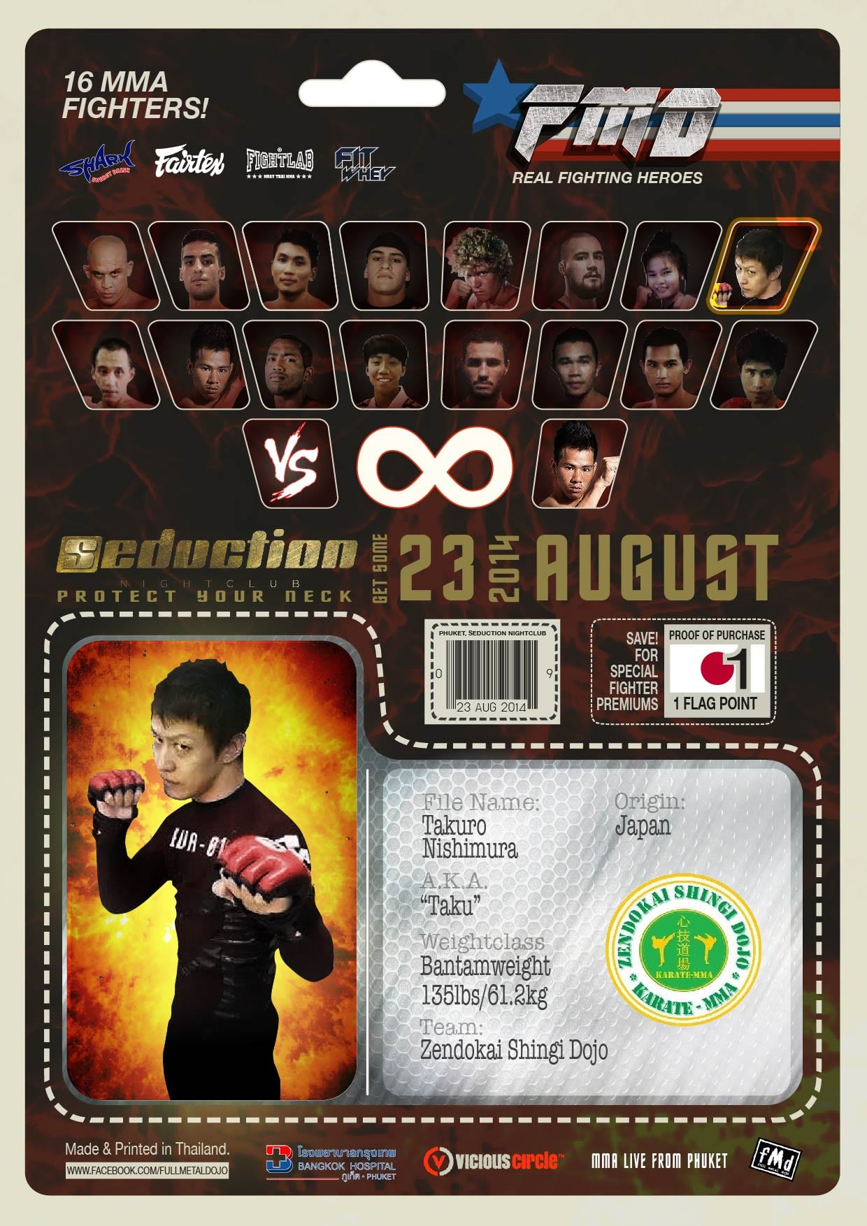 Taukro Nishimura FMD2 MMA Fighters